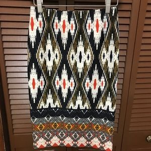 Anthropology Maeve patterned skirt size small